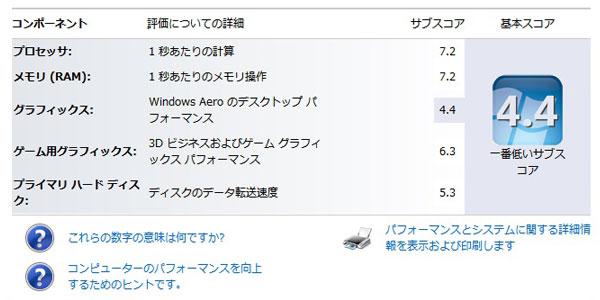 12-Intel-Core2-EXTREME-QX6800に交換後のエクスペリエンスインデックス