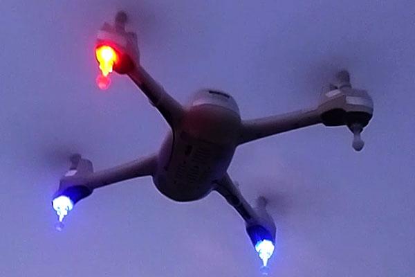 HUBSAN-H502-プラネジで発光ランディングギアとアンテナを機体の外へ露出加工-いざ大空へ