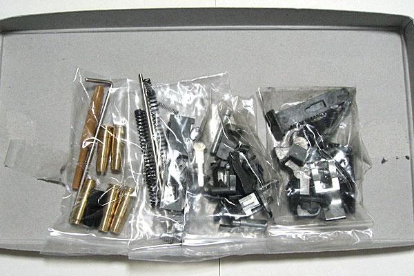 小分けにされたパーツ類-モーゼル-MAUSER-C96-M712-組立キット-モデルガン-マルシン