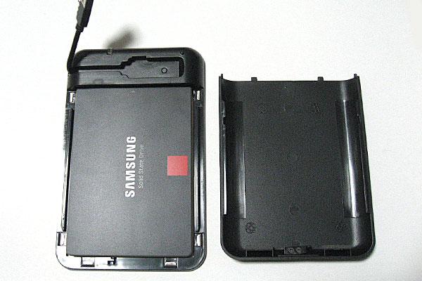 Samsung-SSD-40-PRO-ベーシックキット-128GB-をHDDケースに収納