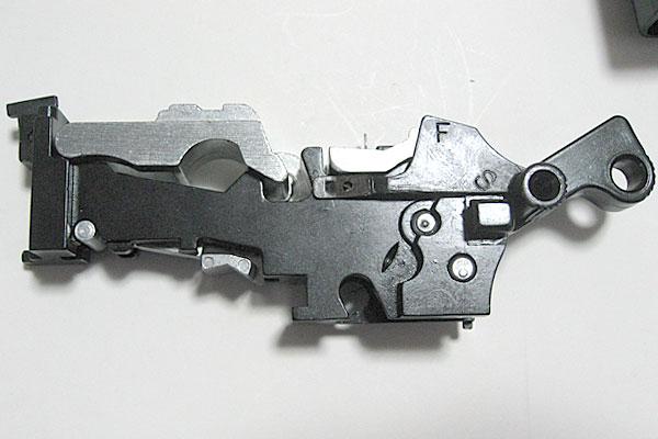 セフティレバーの組込み完了-モーゼル-MAUSER-C96-M712-組立キット-モデルガン-マルシン