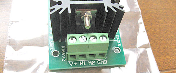 DCモーターコントローラーの入出力端子