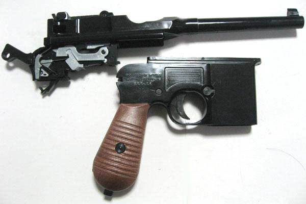 バレルエクステンションの組込み-モーゼル-MAUSER-C96-M712-組立キット-モデルガン-マルシン