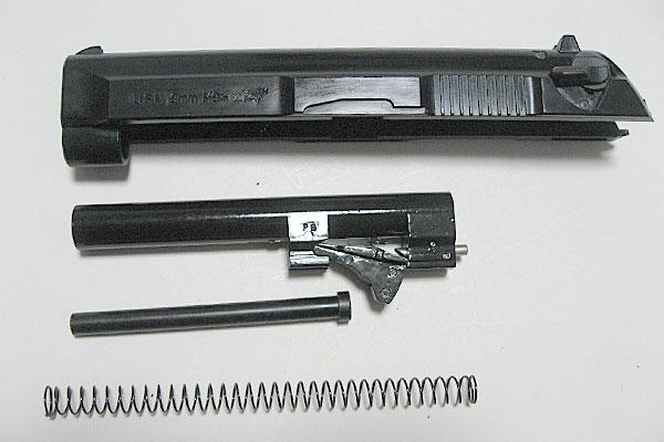 バレルの組み込み-9mmM9-ドルフィン-Dolphin-セミ-フル-セレクティブ-マシンピストル-マルシン-モデルガン組立キット