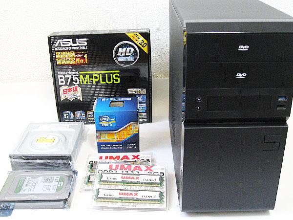 core-i7-2600k、ASUS-B75M-PLUS、ほか自作PCのパーツ一式