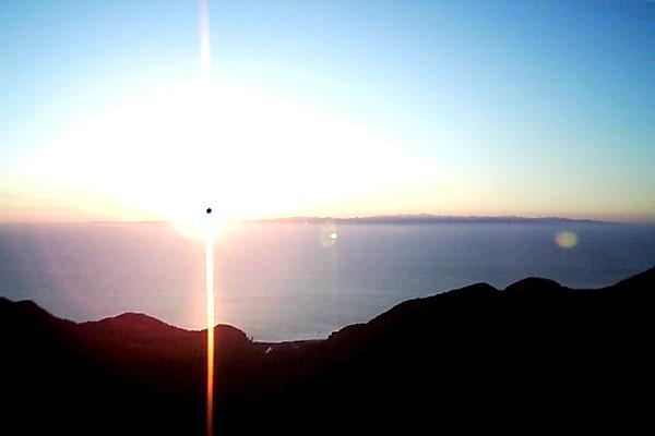 HUBSAN-H502S-空撮-日本海に沈む夕日