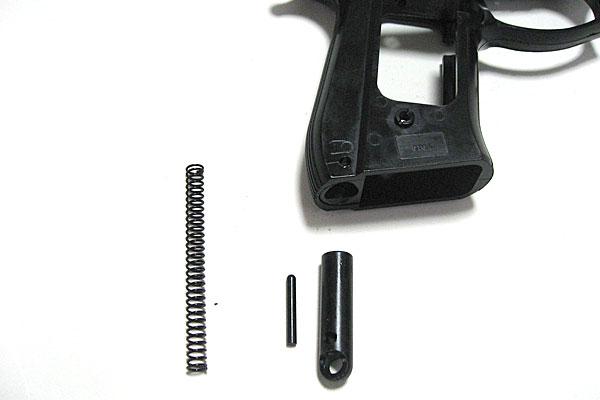 ハンマースプリングの組み付け-9mmM9-ドルフィン-Dolphin-セミ-フル-セレクティブ-マシンピストル-マルシン-モデルガン組立キット
