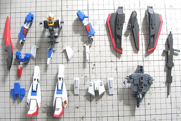 ウェーブライダーに差し替え変形-まずバラす-素組み-スミ入れ-ツヤ消し塗装-HGUC-ゼータガンダム-ZETA-GUNDAM-GUNPLA-EVOLUTION