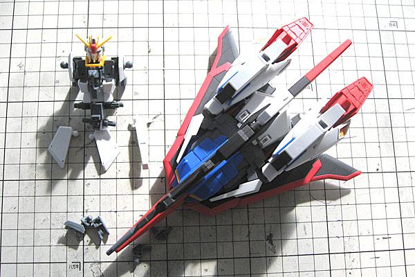 ウェーブライダーに差し替え変形完了-素組み-スミ入れ-ツヤ消し塗装-HGUC-ゼータガンダム-ZETA-GUNDAM-GUNPLA-EVOLUTION