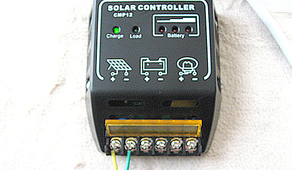 チャージコントローラーに10Wソーラーパネルのみを接続