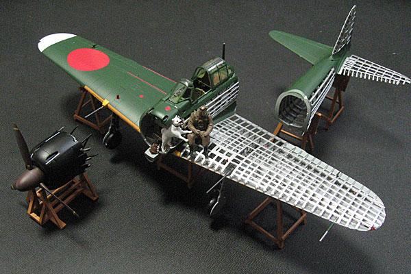 TOMYTEC-トミーテック-零式艦上戦闘機-52乙型-内部構造から通常へ