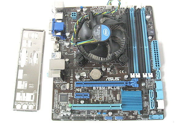 10-マザーボードとCPU-交換-CPUとファンはそのまま-B75M-PLUSをごっそり取り外す