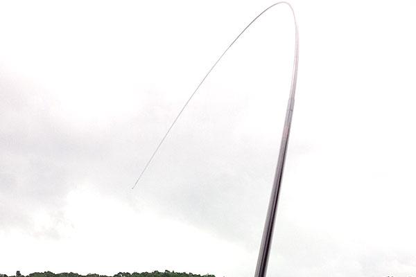 7-うかれ鯉-硬調390-13尺-銀水釣竿製作所-ヘラウキと延べ竿で鯉釣り-しなる穂先