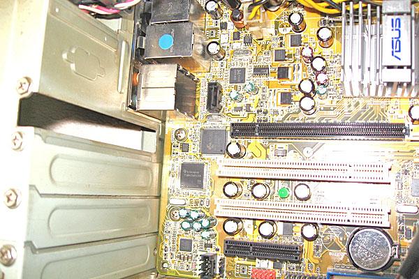 PCI-Eスロットが空いているP5B-VM