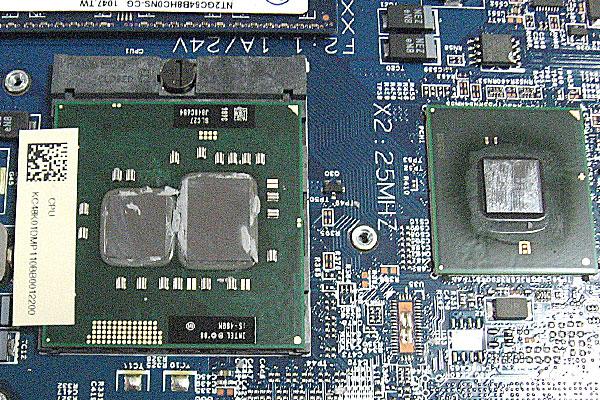 25-Gateway-ID59C-HD52D-分解作業-ヒートシンク取り外し完了-i5-480Mが乗っています