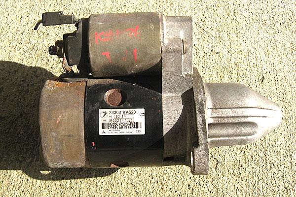 1-スバル-サンバーバン-ヤフオクで2000円で購入したセルモーター-23300-KA620