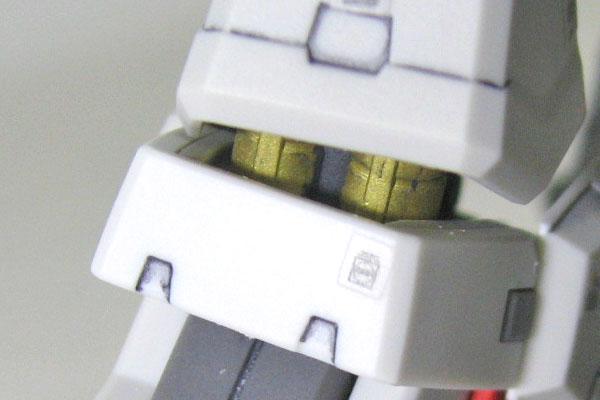 12-RG-ガンダムマーク2-脚部-ダンパー-一部塗装