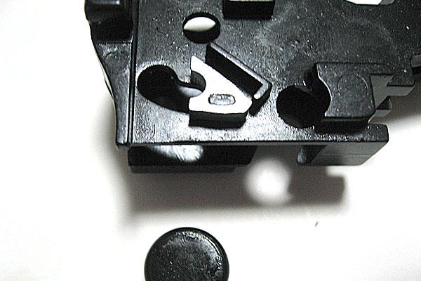 ロックフレームの組立て完了-モーゼル-MAUSER-C96-M712-組立キット-モデルガン-マルシン