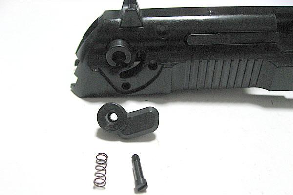 フルオートレバーの組み込み-9mmM9-ドルフィン-Dolphin-セミ-フル-セレクティブ-マシンピストル-マルシン-モデルガン組立キット
