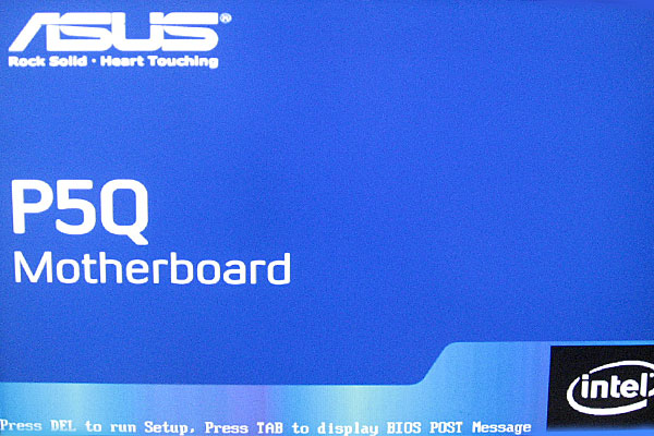 16-ASUS-P5Q-Intel-Core-2-Quad-Q9650-を使って自作PC-BIOS起動-メーカーロゴ表示