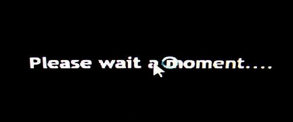 Please-wait-momentの表示とともにグルグルを眺めつつしばし待たされる