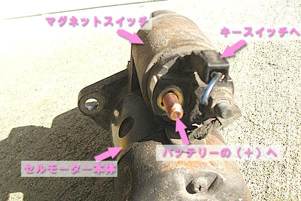3-スバル-サンバーバン-セルモーター-23300-KA620-各部の名称と接続方法
