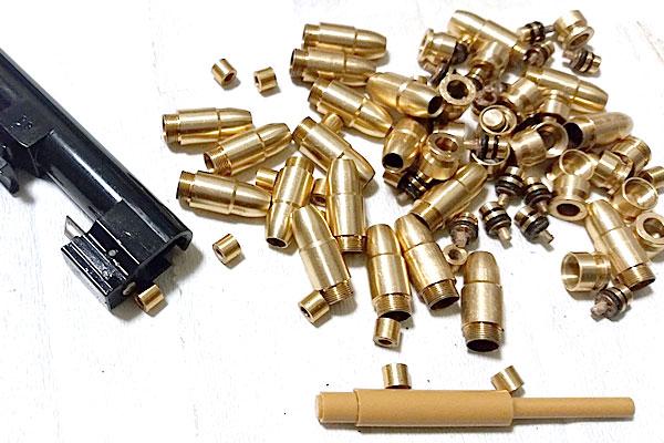 動作後のカートリッジ-9mmM9-ドルフィン-Dolphin-セミ-フル-セレクティブ-マシンピストル-マルシン-モデルガン組立キット