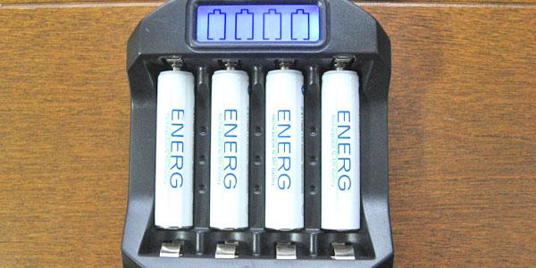 1万円で自作できたDIYソーラーでニッケル水素充電地を充電開始