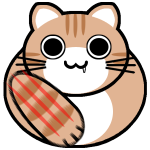 茶トラ-ねこパンチ-キバ猫くん
