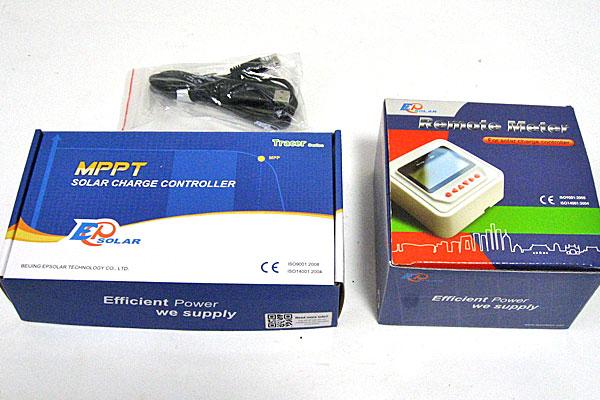 MPPTチャージコントローラー-Tracer1215BN(10A)-リモートメーターMT50-PC接続ケーブル