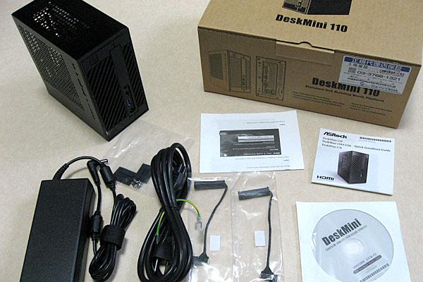 deskmini110-asrock-ベアボーンキット-パッケージ内容-ACアダプタなど