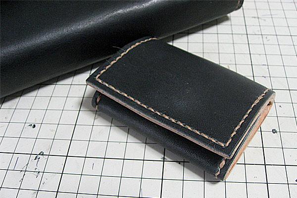 35-レザークラフト-ロングウォレット-長財布-クラッチバッグ-DIY完成-お揃いの小銭入れ-コインケース-2
