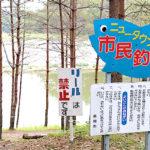 9-新潟県長岡市-ニュータウンいこいの広場-うかれ鯉-硬調390-13尺-銀水釣竿製作所-ヘラウキと延べ竿で鯉釣り-いよいよ市民釣場