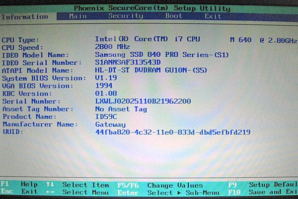 3-Gateway-ID59C-H52D-CPU交換-i7編-intel-core-i7-640M-BIOSでCPUの動作を確認
