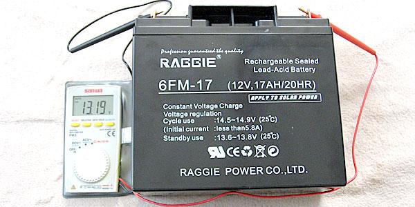 バッテリーの電圧を測ってみる