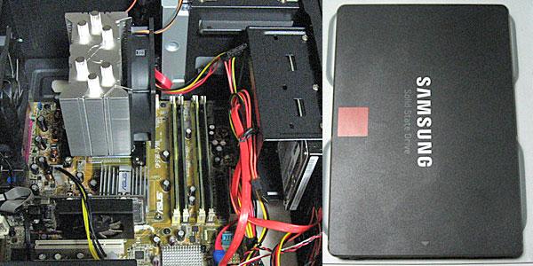 1-P5B-VM-SSD換装と設定