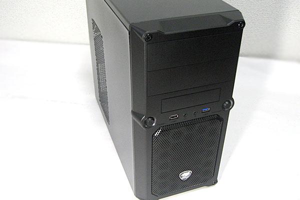 PCケース-株式会社マイルストーン-ミニタワーMG100-オーソドックスなフロントパネル