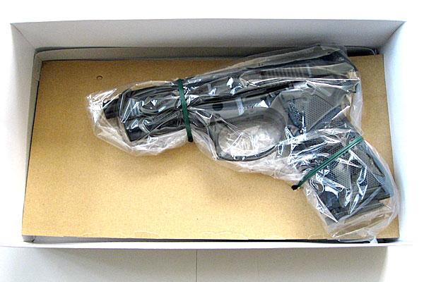 仮組み状態での箱詰め-9mmM9-ドルフィン-Dolphin-セミ-フル-セレクティブ-マシンピストル-マルシン-モデルガン組立キット