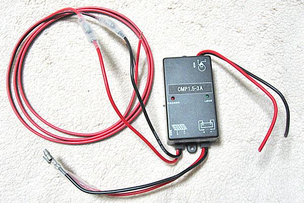 6V3Aチャージコントローラーのケーブルの延長と加工