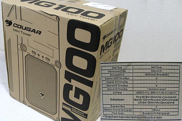 PCケースは株式会社マイルストーンのミニタワーMG100